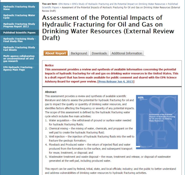 EPA: Fracking poses no 'widespread, systemic' harm to drinking water